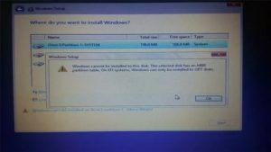 Error 17 cannot mount selected partition