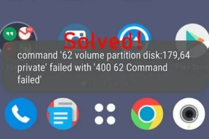 Command 11 volume partition disk